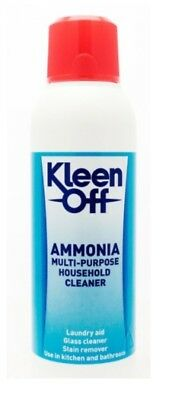 Kleen Off Ammonia Multi Purpose Household Cleaner Stain Remover Kitchen Bathroom