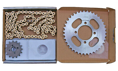 Honda C90 Cub chain & sprocket kit (1983-2003) Choho h/duty GOLD chain upgrade