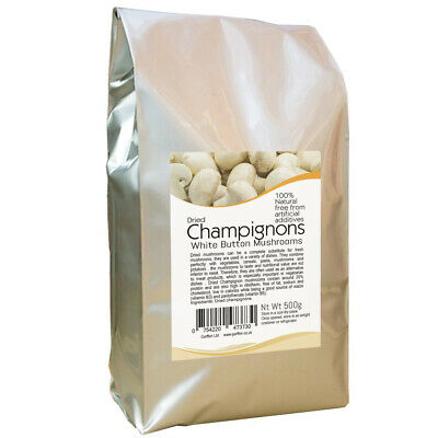 Dried Champignon Mushrooms Choped & Dried 500g Mediterranean Vegetables