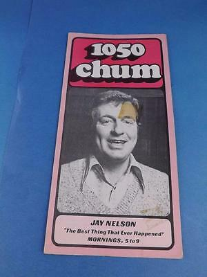 1050 Chum Radio Station Toronto Canada Program Top 30 Songs May 1974 Jay Nelson