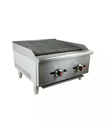 New American Gas Char Broiler 2 Burner Char Grill 610mm, Natural gas or LPG