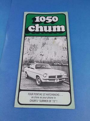 1050 Chum Radio Station Canada Top 30 July 1973 Pontiac Gt Hatchback Contest