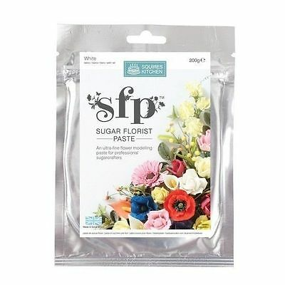 Sugar florist paste  flower paste - White 200g Squires FAST NEXT DAY SHIPPING!