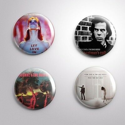 4 NICK CAVE AND THE BAD SEEDS -  Pinbacks Badge Button 25mm 1''