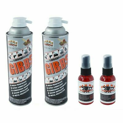 Gibbs Brand Lubricant, Water Repellent, 12 oz Spray & 2 oz Bottle 2 of Each