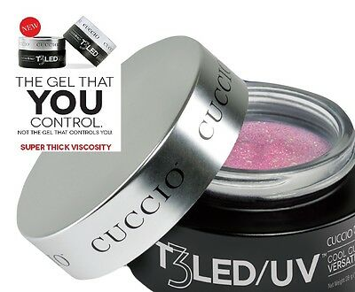 CUCCIO PRO T3 LED / UV NAIL GEL - PINK  28g 1oz false tips builder one step