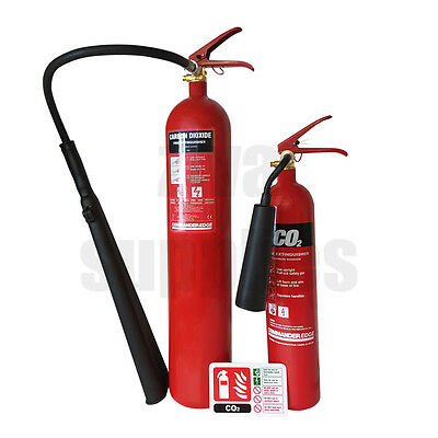 (2kg/5kg) C02 Fire Extinguishers *WITH SIGNS* For Warehouse Work Home Protection