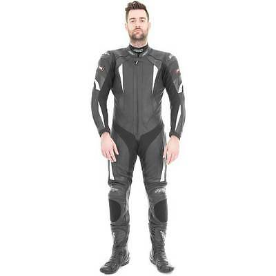 RST R-16 White One Piece Cheap Leather Sports Motorcycle Motorbike Race Suit
