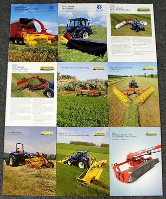 9 New Holland Brochures - Rakes - Harvesters - Conditioners 2000-2014