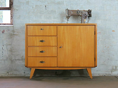 Mid Century 60s Cabinet Highboard Sideboard Singer Sewing Machine 60er Vintage