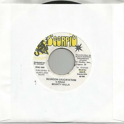 "Bounty Killa - Bedroom Crucifixtion (Scorpio) Reggae 7"" Vg+"