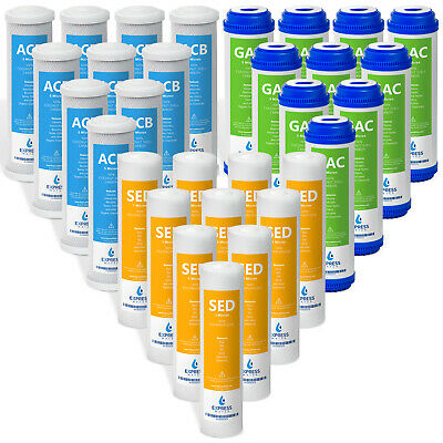 """Reverse Osmosis RO Replacement Filters Set GAC Carbon Sediment Coconut Shell 10"""""""