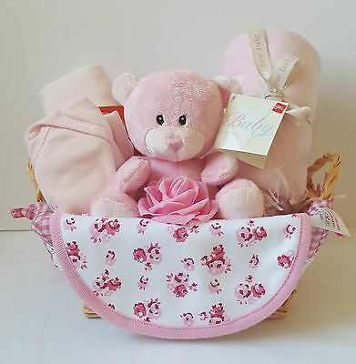 Baby Girl Gift Basket - Baby Shower / New Baby Gift / Nappy Cake