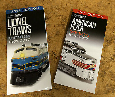 2017 Price Guides: Lionel & American Flyer ..latest Edition ..msrp $37.98 (Xx14)