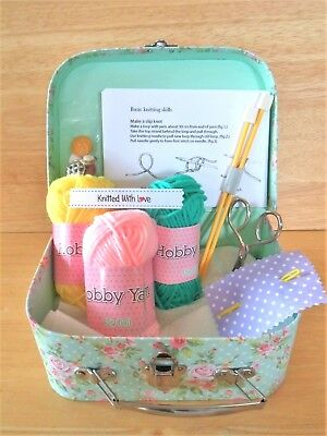 Children's Knitting Kit Learn how to Knit COMPLETE Beginners Craft Kit Easy!