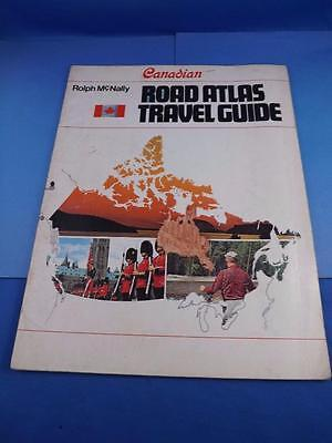 Road Atlas Travel Guide Canadian Rolph Mcnally 1970 Mileage Chart