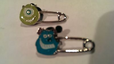 Disney Trading Pins-2015 HKDL-Safety Pin-Mike and Sulley 2pc. set