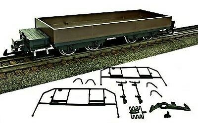 Train Line45 Low-sided wagon,brown,with Brakeman'S platform,plastic wheel sets,S