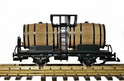 Zenner Tank trailer for Wine with Wooden barrels, G Scale Garden railway