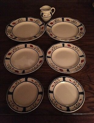 """Adams China """"Lancaster""""  Set Of 7 Pieces. Made In England"""