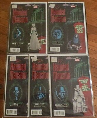 The Haunted Mansion  1 2 3 4 5 action figure variant comic set Marvel Disney