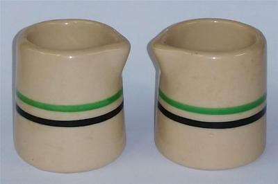 "2"" Syrups Inca Ware Shenango China Green/Black Stripe Railroad Restaurant"