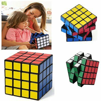 4x 4 x 4 Magic Cube Speed Cube ABS Cubo Puzzle Matte Sticker Twist  Toy Kids Toy