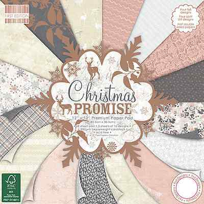 """First Edition 'Christmas Promise' 12"""" x 12"""" Premium Paper Pad FULL PAD"""