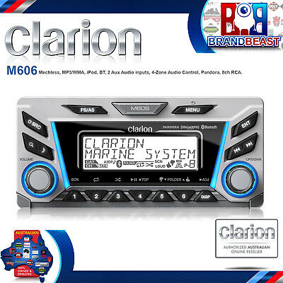Clarion M606 Multi-zone Marine Digital Media Receiver With Blueto- Free Shipping