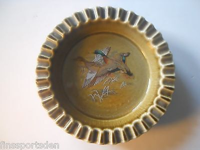 Vintage IRISH PORCELAIN Ashtray ~ Mallard Duck ~ Wade Co Armagh Ireland