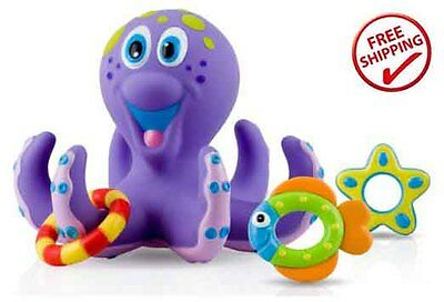 Baby Pool Float Toys Water Nuby Learning Octopus Hoopla Bathtime Fun Bath NEW
