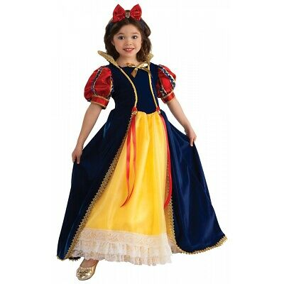 Snow White Costume Kids Princess Halloween Fancy Dress