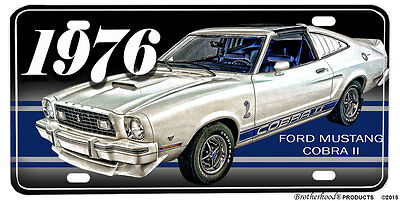 1976 Ford Mustang Cobra II Aluminum License Plate