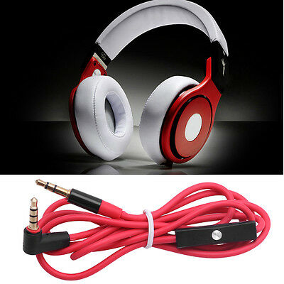 3.5mm Replacement Audio Cable L Cord With Mic For Monster Beats By Dr Dre Aux