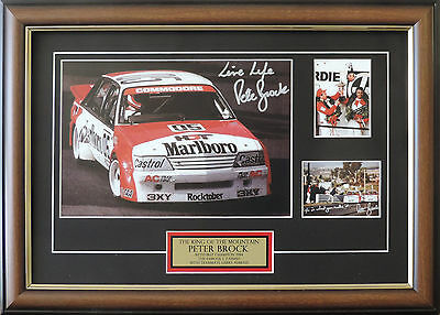 Peter Brock King Of The Mountain Bathurst Famous One Two Finish Signed Framed