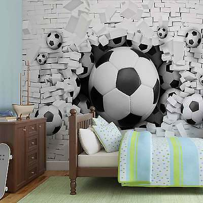 WALL MURAL PHOTO WALLPAPER XXL Football Through The Wall (3383WS)
