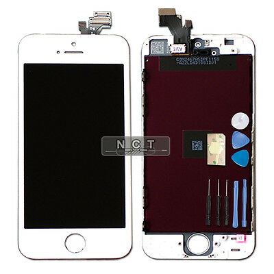 LCD Digitizer Touch Screen Assembly Display for White iPhone 5 with Tool Kit