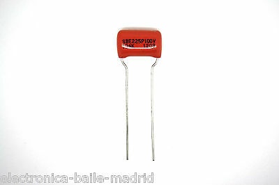 2x GENUINE SPRAGUE ORANGE DROP 225P CAPACITOR GUITAR BASS 0.1uF 100V