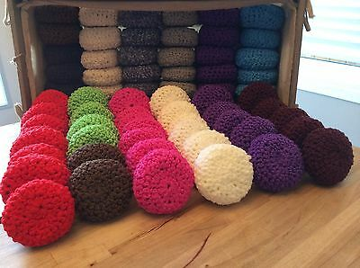 Crocheted Scrubbies for kitchen or bath set of 10