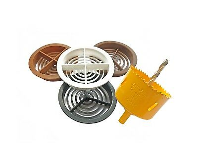 70mm Circular Soffit Vent Airflow Flat Board Round Roof Ventilation Discs Saw