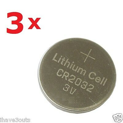 3 x BR2032 CR2032 DL2032 5004LC Lithium Cell Battery Watch Calculator Button