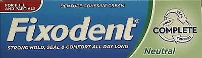 Fixodent Denture Adhesive Neutral Taste 47g x 3 Packs