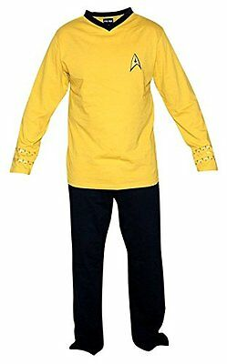 Star Trek original Serie Uniform Pyjama Pajamas Tuta stanza Enterprise gold XL