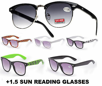 Unisex Sun Readers +0.50 +1.00 +1.5 READING SUNGLASSES GLASSES HOLIDAY