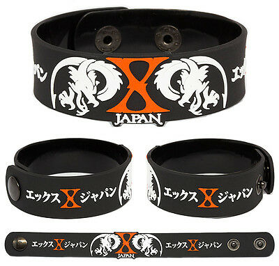 X JAPAN Rubber Bracelet Wristband Blue Blood  Jealousy Dahlia