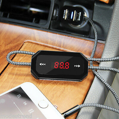 Wireless Car Kit Audio FM Transmitter MP3 Music Player USB Charger For iPhone 6s