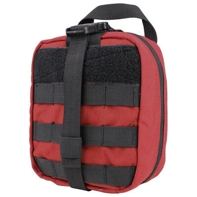 Condor Tactical Rip-Away Emt Pouch First Aid Kit Storage Holder Molle Case Red