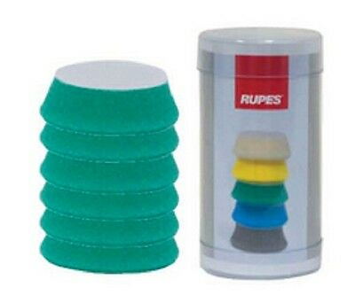 Rupes 9.BF40J Pad de Lustrage Auto-Agrippant 34/40 MM - Verte Medium - lot de 6