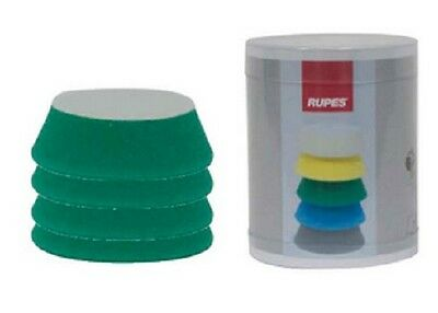 Rupes 9.BF70J Pad de Lustrage Auto-Agrippant 54/70 MM - Verte Medium - lot de 4