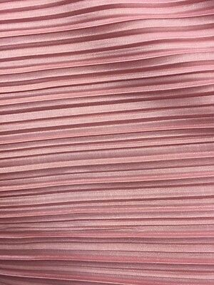 100% polyester Pink pleated flowy Fabric by the yard
